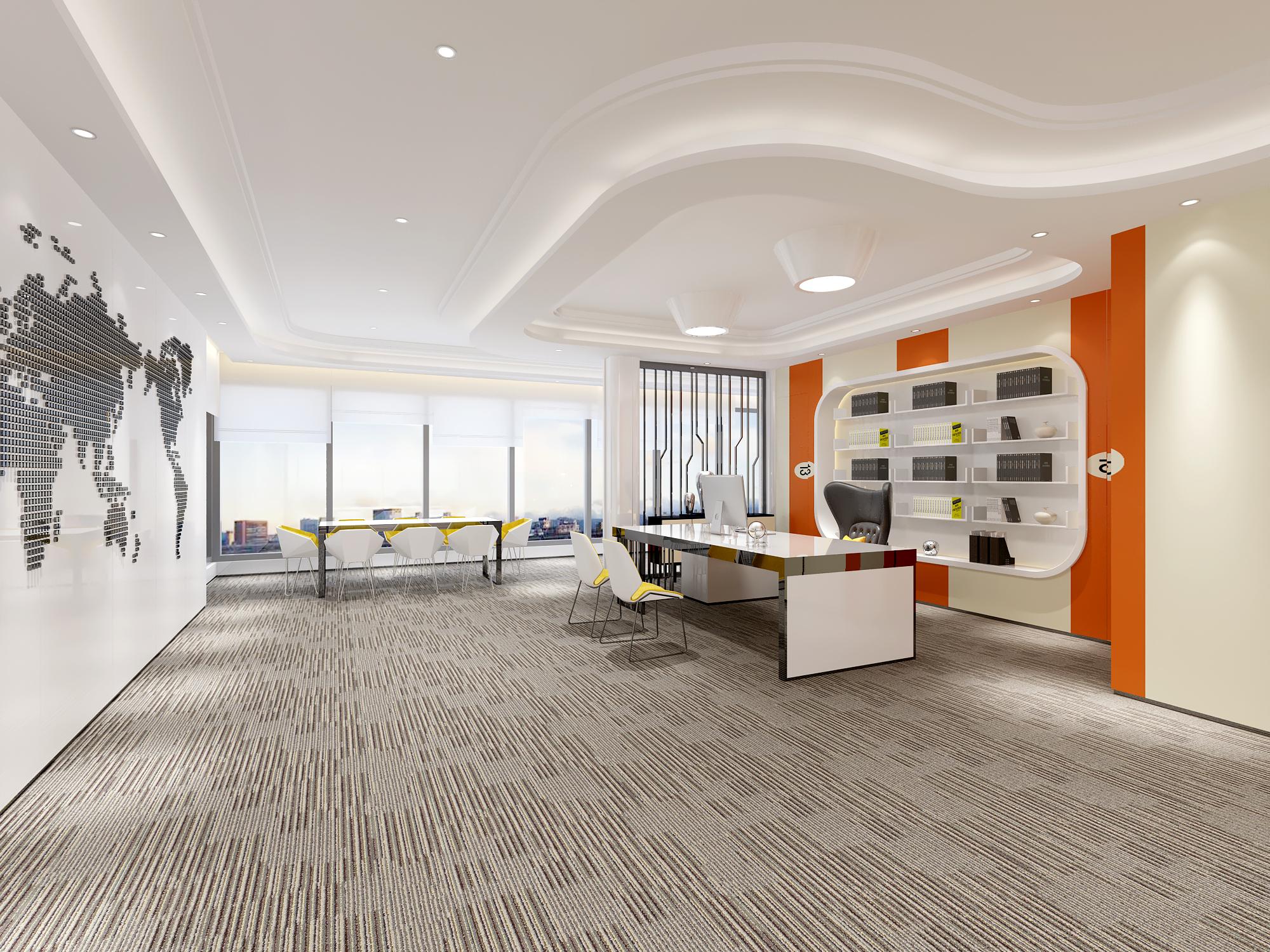 设计,总经理办公室装修设计,临沂办公室装修效果图